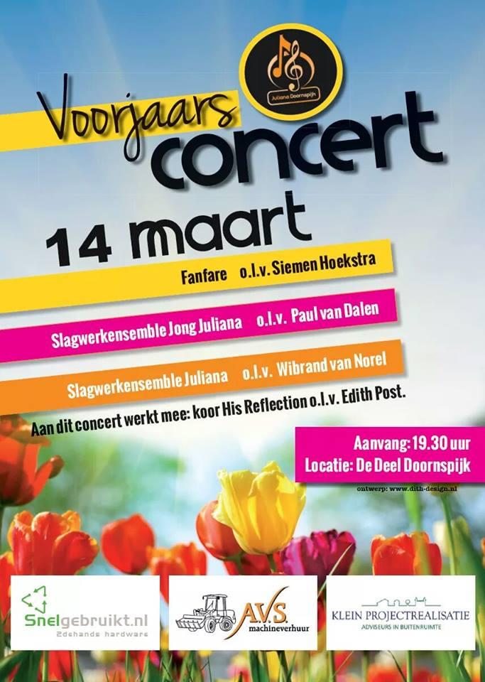 Voorjaarsconcert Juliana Doornspijk